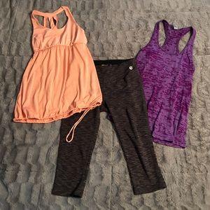 Bundle of workout clothes